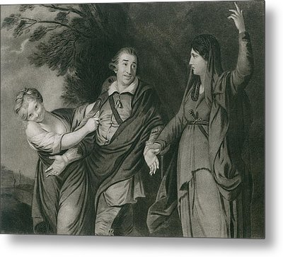 Garrick Between Tragedy And Comedy Metal Print by Everett