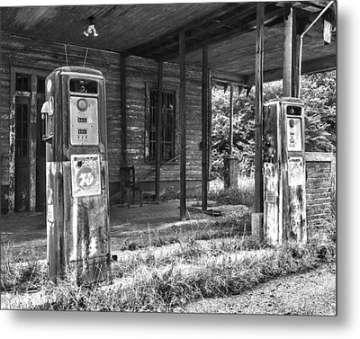 Gas Pumps Metal Print