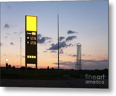 Gas Station Sign Metal Print by Jaak Nilson