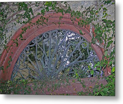 Gate To The Courtyard Metal Print by Patricia Taylor