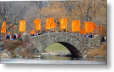 Gates Over Gapstow Bridge  Metal Print by Frank Winters