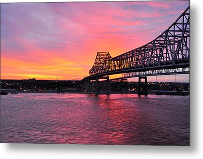 Gateway To The West Bank From Nola Metal Print by Helen Haw
