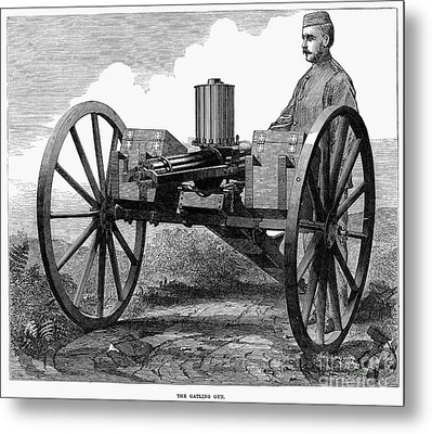 Gatling Gun, 1872 Metal Print by Granger