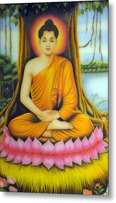 Gautama Buddha Metal Print by Created by handicap artists