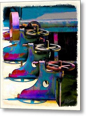 Gears Metal Print by Suni Roveto