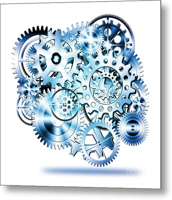 Gears Wheels Design  Metal Print by Setsiri Silapasuwanchai