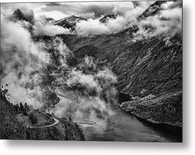 Geiranger Fjord Metal Print by A A