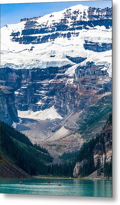 Gem Of The Canadian Rockies Lake Louise Metal Print by Tommy Farnsworth