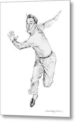 Gene Kelly Metal Print by David Lloyd Glover