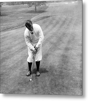 Metal Print featuring the photograph Gene Sarazen Playing Golf by International  Images
