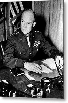 General Dwight D. Eisenhower, January Metal Print by Everett