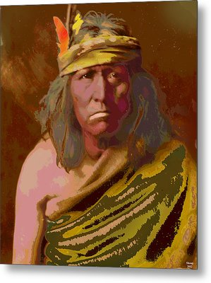 Metal Print featuring the mixed media Gennetoa The Renegade by Charles Shoup
