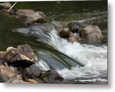 Metal Print featuring the photograph Gently Down The Stream by John Crothers