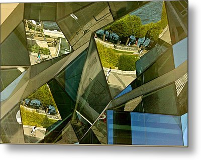 Geometric Reflections Metal Print by Michael Cinnamond