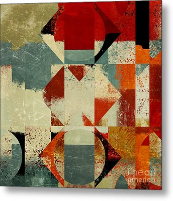 Geomix 04 - 39c3at227a Metal Print by Variance Collections