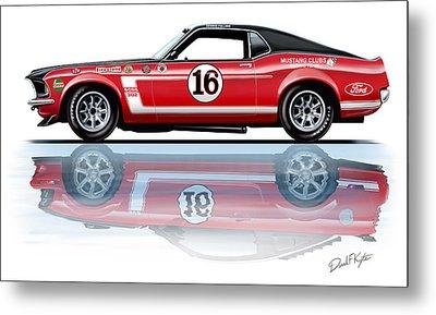 Geore Follmer Trans Am Mustang Metal Print by David Kyte