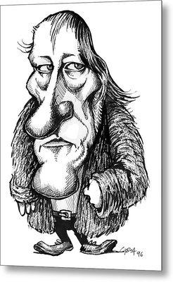 Georg Hegel, Caricature Metal Print