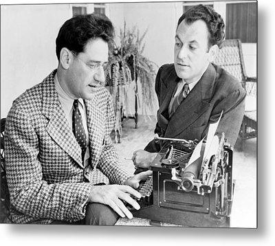 George S. Kaufman 1889-1961 Typing Metal Print by Everett