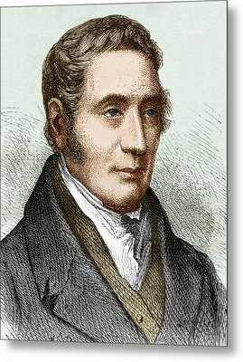 George Stephenson (1781-1848) Metal Print by Sheila Terry