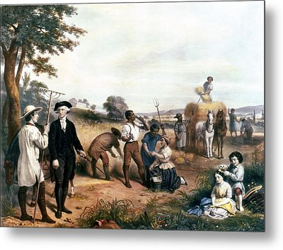 George Washington As A Farmer, Standing Metal Print by Everett
