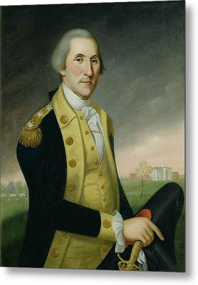 George Washington At Princeton Metal Print by Charles P Polk