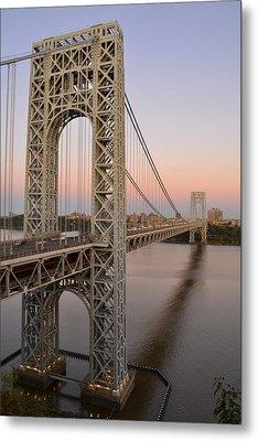 George Washington Bridge At Sunset Metal Print by Zawhaus Photography