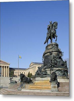 George Washington Statue At The Philadelphia Art Museum Metal Print by Brendan Reals