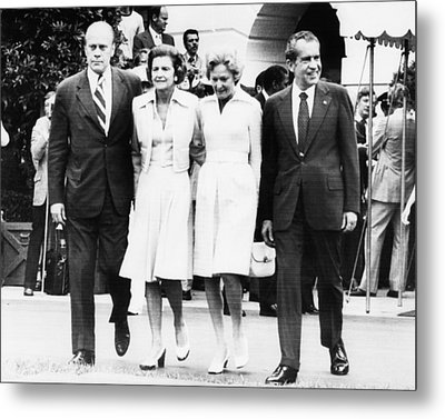 Gerald Ford Inauguration.  From Left Metal Print by Everett