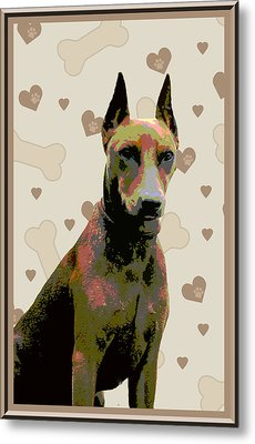 German Pinscher Metal Print by One Rude Dawg Orcutt