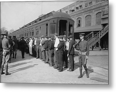 Germans In Hoboken, New Jersey, Rounded Metal Print by Everett