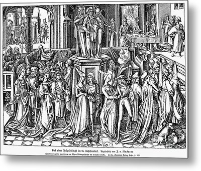 Germany: Medieval Ball Metal Print by Granger