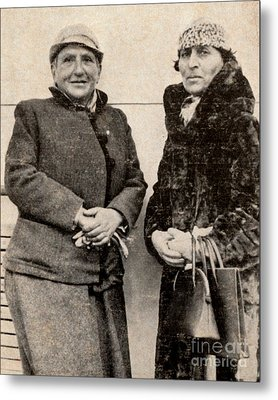 Gertrude Stein And Alice B. Toklas Metal Print