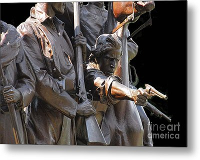 Metal Print featuring the photograph Gettysburg Monument by Cindy Manero