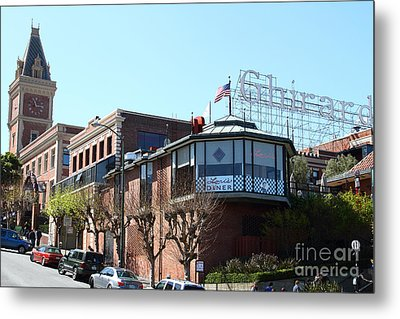 Ghirardelli Chocolate Factory San Francisco California . 7d14093 Metal Print by Wingsdomain Art and Photography