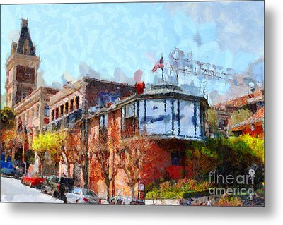 Ghirardelli Chocolate Factory San Francisco California . Painterly . 7d14093 Metal Print by Wingsdomain Art and Photography