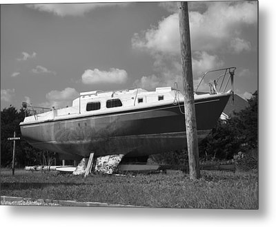 Ghost Crab Boat Metal Print