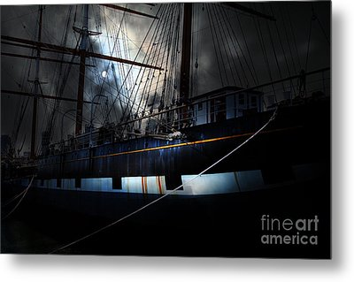 Ghost Ship Of The San Francisco Bay . 7d14153 Metal Print by Wingsdomain Art and Photography