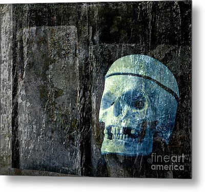 Ghost Skull Metal Print by Edward Fielding