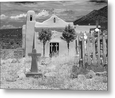 Ghost Town Church Metal Print by Sonja Quintero