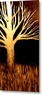 Metal Print featuring the painting Ghost Tree by Monica Furlow