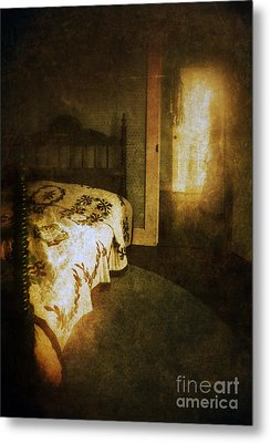 Ghostly Figure In Hallway Metal Print by Jill Battaglia