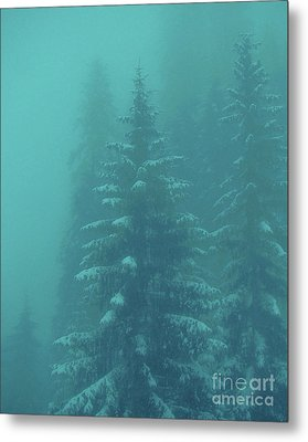 Ghostly Trees In Oils Metal Print by Al Bourassa