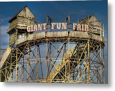 Giant Fun Fair Metal Print by Adrian Evans