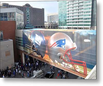 Giants Vs Patriots  Metal Print by Brittany H
