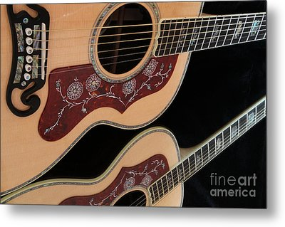 Gibson Sj200 Metal Print by Edward R Wisell
