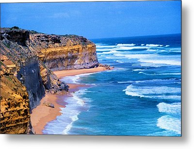 Metal Print featuring the photograph Gibson's Beach In Australia by Dennis Lundell