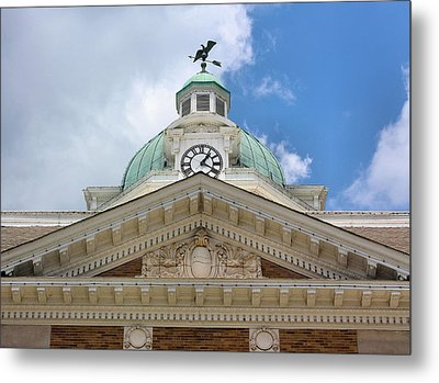 Giles County Courthouse Details Metal Print by Kristin Elmquist
