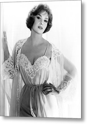 Gina Lollobrigida, 1961 Metal Print by Everett