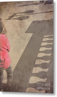 Girl And Shadows Metal Print by Jim Wright