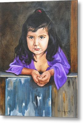 Metal Print featuring the painting Girl From San Luis by Lori Brackett
